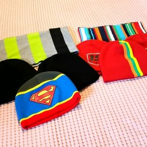 Boys scarves and hats.